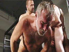 Hirsute man-lover men fuck silver educator in groupie