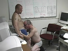 Pooch gets dirty in the office with a damp man in 1 motion picture