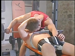 A hardcore gay fuck in the gym in 1 movie scene