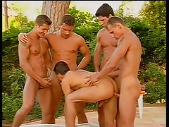 Lots of hot fellows have major fuck fest in 4 episode