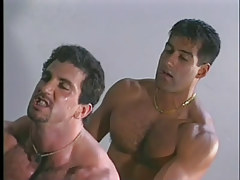 Gay muscle studs have perspired anal in garage in 4 episode