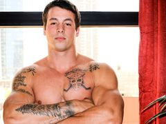 Ty is a mammoth burly boy with a great toned muscle body auxiliary in with some ink as well