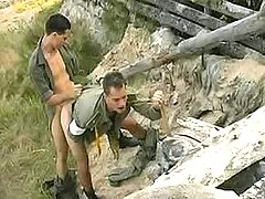 Military twinks fuck n semen outdoors