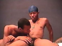 Black stud pounds hungry man-lover doxy