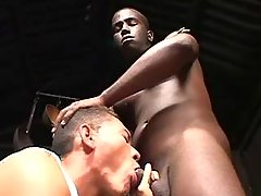 Handsome black boy takes it anally