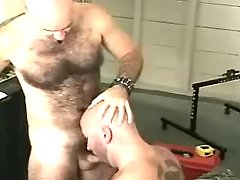 Mature homosexual sucks jock and licks furry opening
