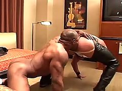 Black homo sucks dick and licks boys aperture