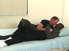 Black stud pounds hungry gay whore