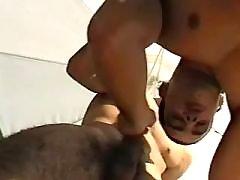 Lustful ebon stallions fuck brains out