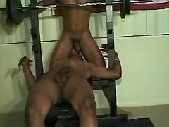 Black gay guy slut serving lascivious hunk