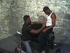 Wild black gay gets forced heavily