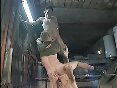 Teenage gays full around oral fucking action in groupie