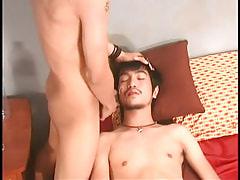 Asian boyish sub attains sticky facial