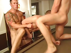 Muscle homosexual guys fuck tight fellows aperture by bows