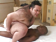 Horny bear homo rides weighty ebon pride