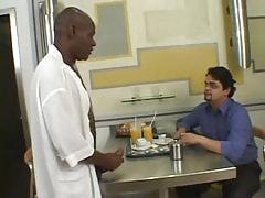 Black gay offers his huge schlong