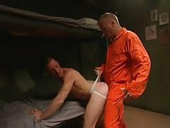 Horny prisoner copulates youthful guy