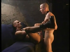 Two gays in leather crazy fuck