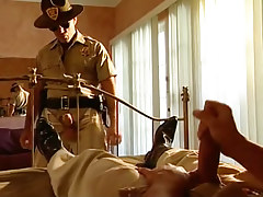Young policeman looks have a fun a properly should masturbate