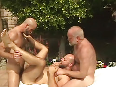 Old and calm homosexual guys download furry dilf by pool