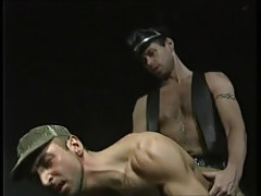 Horny bear chap has intercourse dilf in doggy style
