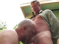 Oldest man-lover sucks intense cock of fellow