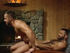 Horny bear dilf rides tough rod in home hunting