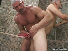 Silver grown man-lover devote dildofucks poor twink