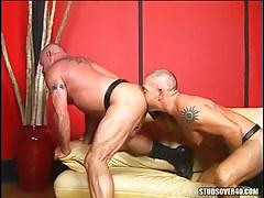 Bear twink licks out mature muscle ass