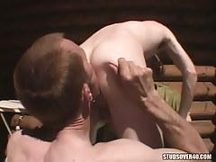 Hungry faggot licking fellows wazoo on tearrace