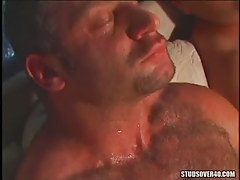 Bear homosexuals enjoy cock stroking
