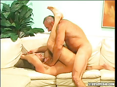 Oldest silver twink fucks hairy dilf