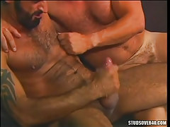 Hairy gay men cock cream by changes direction
