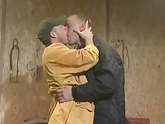 Two fabulous man-lovers mouth to mouth