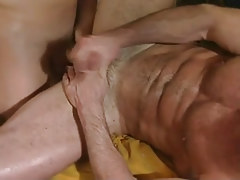 Hairy gay jizzes with shlong in apple bottoms