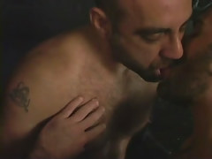 Hairy gay guy men mouth to mouth