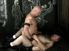 Gay dilfs rides curly ready fellow