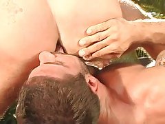 Bear fruit licks hard males wazoo outdoor