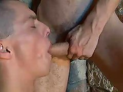Army gentlemen merrily orally fixating each others cocks